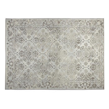 7'x10' Gray Floral Printed Area Rug view 1