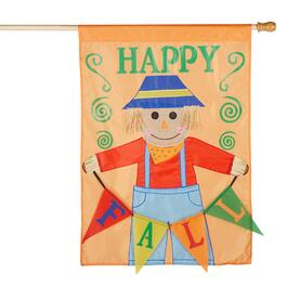 "28""x40"" ""Happy Fall"" Scarecrow Yard Flag"