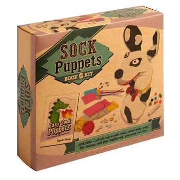 Sock Puppets Book and Kit Set