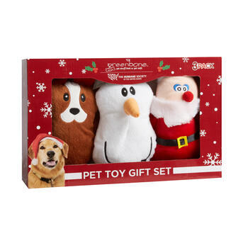Christmas Pet Toy Gift Set, 3-Pack view 1