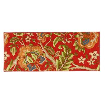 "22""x54"" Waverly® Red Floral Printed Runner"