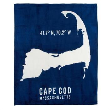 """Cape Cod"" Massachusetts Printed Throw Blanket - Christmas ..."