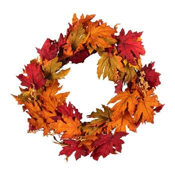 "The Grainhouse™ 22"" Maple Leaf and Berries Wreath"