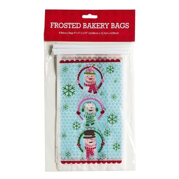 Snowmen Holiday Cellophane Treat Bags, 8-Count