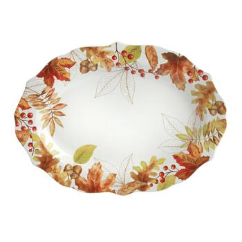 "10""x14"" Harvest Woodland Oval Serving Platter view 2"