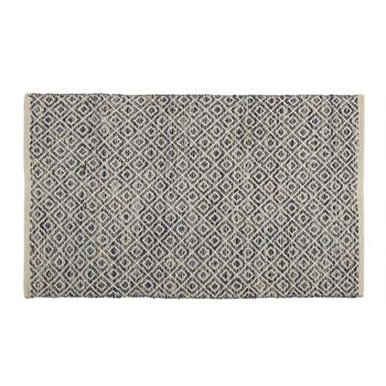 "The Grainhouse™ 27""x45"" Dark Blue Diamond Woven Accent Rug"