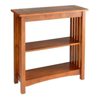 Mission-Style Wood Bookcase