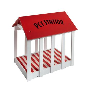 """Pet Station"" House-Shaped Dog Bed"