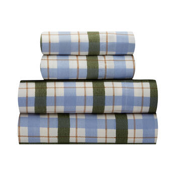Blue Plaid Sheet Set view 1