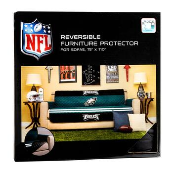 Nfl Philadelphia Eagles Reversible Sofa Cover Christmas
