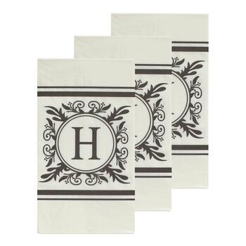 "3-Pack Monogram ""H"" Guest Towels, 45-Count"