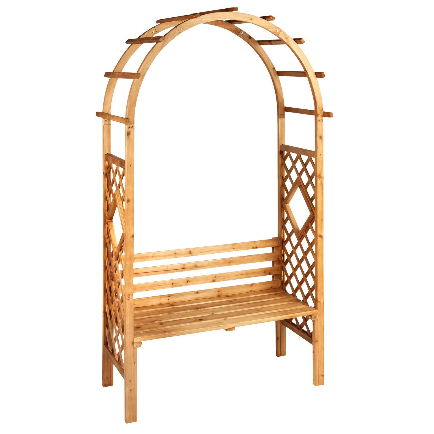 Awe Inspiring Cedar Wood Garden Arbor With Bench Pdpeps Interior Chair Design Pdpepsorg