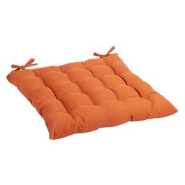 Solid Tangerine Indoor/Outdoor Tufted Square Seat Pad