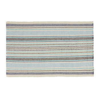 The Grainhouse™ Blue/Gray Striped Accent Rug view 1