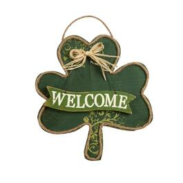 "19"" ""Welcome"" Shamrock Hanging Sign"