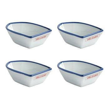 "Coastal Living Seascapes™ ""Orleans"" Small Boat Bowls, Set of 4"