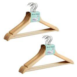 5-Pack Natural Wood Hangers, Set of 2