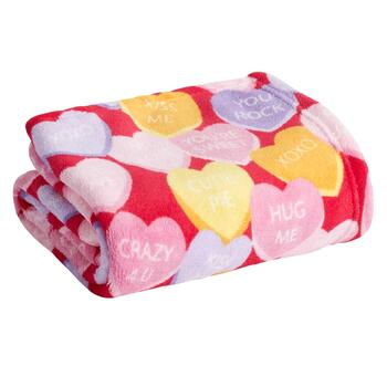 Red Candy Hearts Throw Blanket Christmas Tree Shops And That Home Decor Furniture Gifts Store