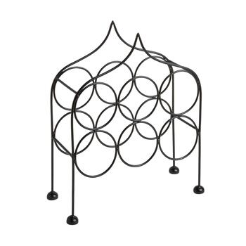 Black 6-Bottle Teardrop Wine Rack