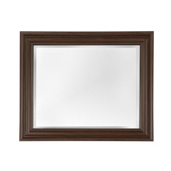 "28""x34.25"" Dark Walnut Matted Frame Wall Mirror"