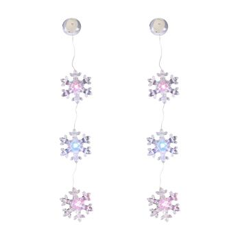 "19.5"" Snowflake LED Color-Changing Lights, Set of 2"