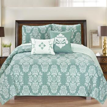 Josie Damask Reversible Quilt Set