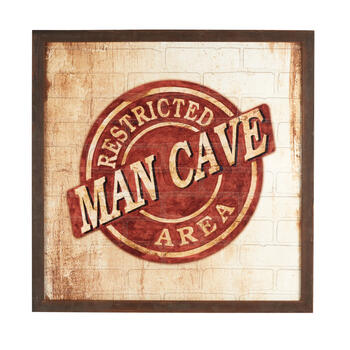 "30"" ""Man Cave: Restricted Area"" Wall Decor view 1"
