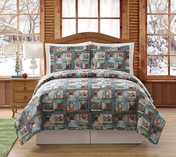Debbie Mumm® Snowman Quilt Set with Tote