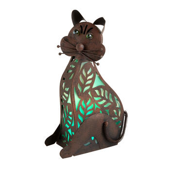 "15"" Solar Cat Garden Decor view 1"