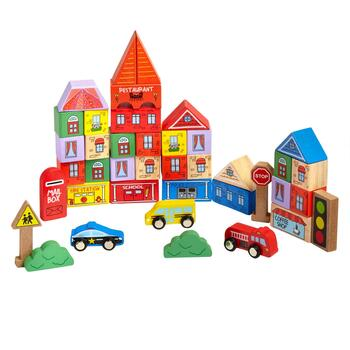 40-Piece Block Town Set