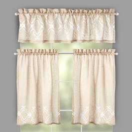 Carlyle Embroidered Window Tier & Valance Set
