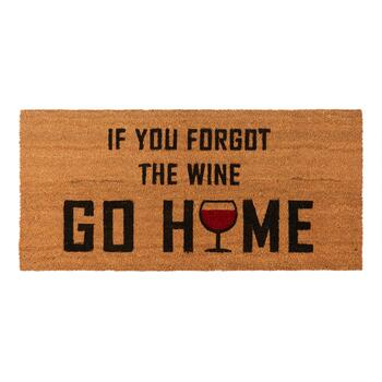 "22""x47"" ""Forgot the Wine"" Oversized Coir Door Mat"