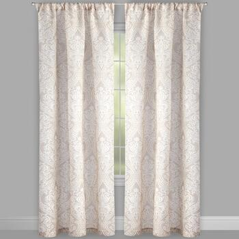 "84"" Bombay™ Clay Damask Window Curtains, Set of 2"