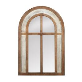 "The Grainhouse™ 26""x39"" Wood/Metal Arch Wall Mirror"