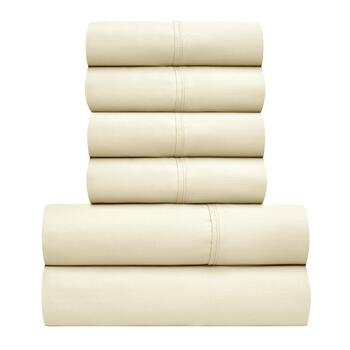 Luxor Sateen 300-Thread Count Cotton Sheet Set, 6-Piece