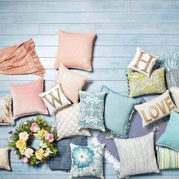 Embellished Decorative Throw Pillows