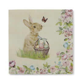 Floral Bunny Lunch Napkins, 20-Count view 1