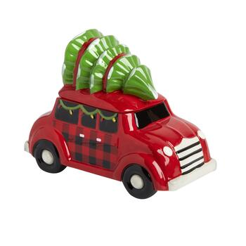 Station Wagon Christmas Tree Car Cookie Jar
