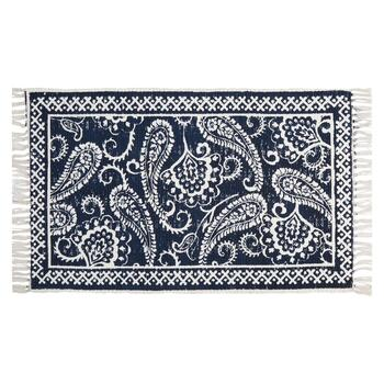 Blue/White Large Paisley Accent Rug