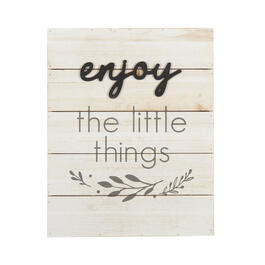 "16""x20"" ""Enjoy the Little Things"" White Cutout Wood Wall Decor view 1"