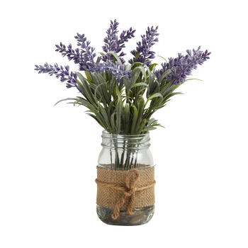 The Grainhouse™ Branch and Blossom Mason Jar Flower Centerpiece view 1