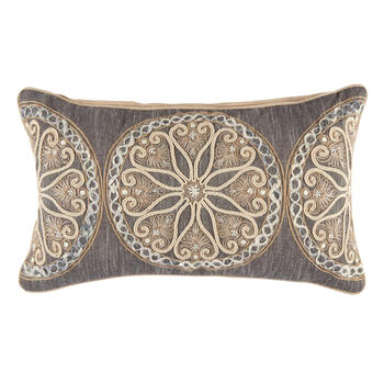 The Grainhouse™ Dark Gray Medallion Oblong Throw Pillow view 1