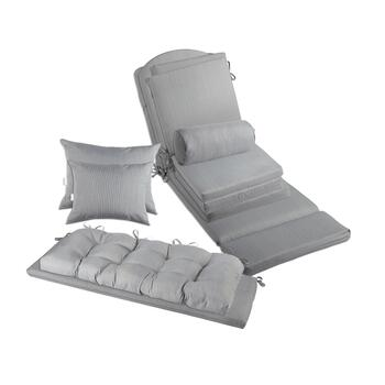 Solid Gray Indoor/Outdoor Chair Pads  Collection