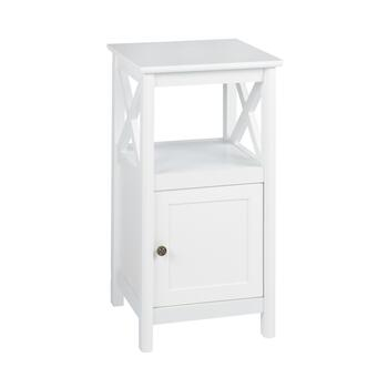 "22"" Milan White 1-Door X-Sided Cabinet"