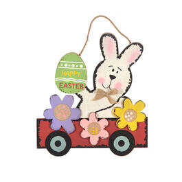 "36"" ""Happy Easter"" Bunny Car Wood Wall Decor view 1"