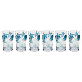 Coastal Seashells Acrylic Tumblers, Set of 6 view 1