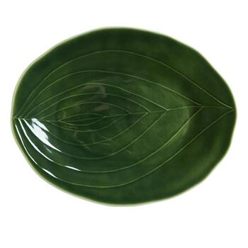 "15.5"" Palm Leaf Oval Serving Platter view 2"