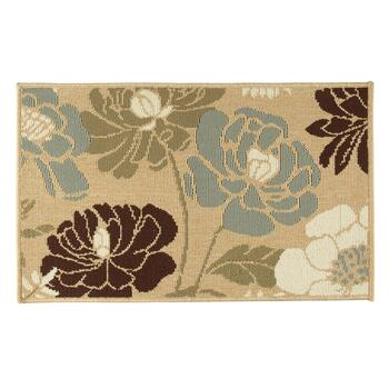 "20""x33"" Blue Flower Accent Rug"