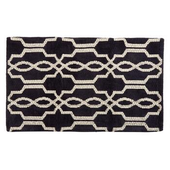 "Mohawk Home 24""x36"" Navy Geo Cotton Blend Accent Rug"