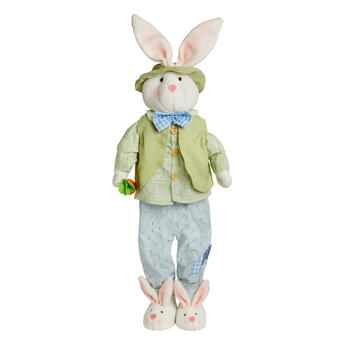 "29"" Green Vest Standing Boy Bunny view 1"